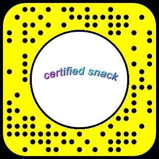 certified snack Snapcode